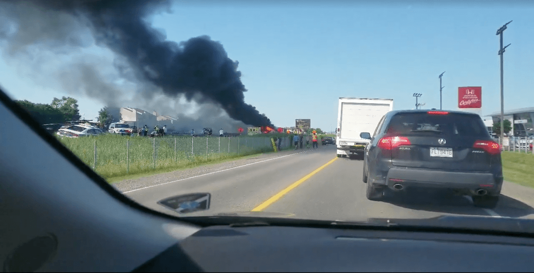 69 people injured in Canadian traffic accident