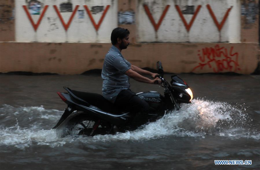 Heavy rain hits outskirts of Mumbai, India