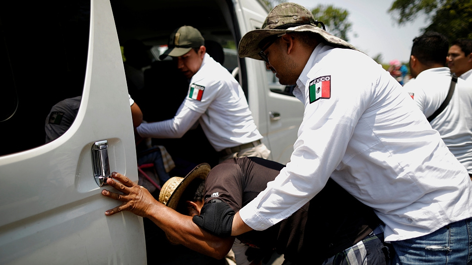 150 migrants rescued in smuggling trailer in Mexico