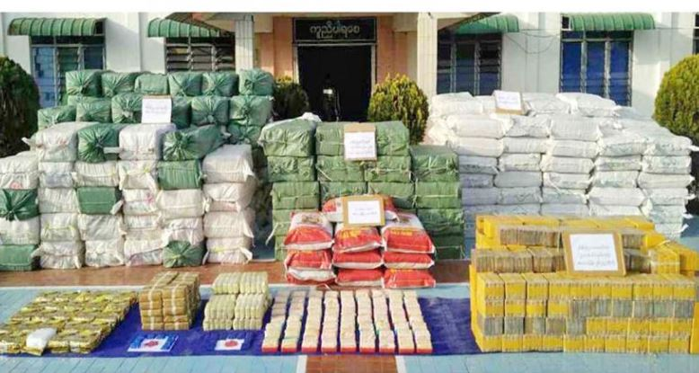 Narcotic drugs worth 1.56 mln USD seized in Myanmar's eastern state
