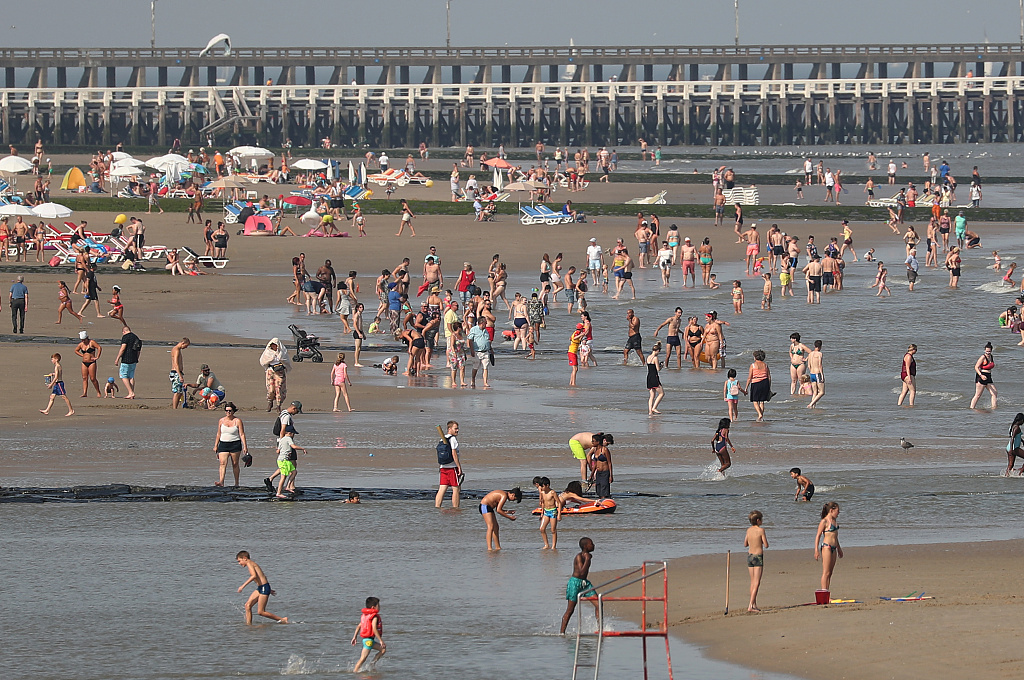 Belgium hit record high of 41.8 C on Thursday