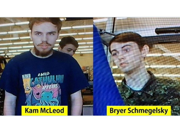 Canadian air force joins hunt for teen murder suspects