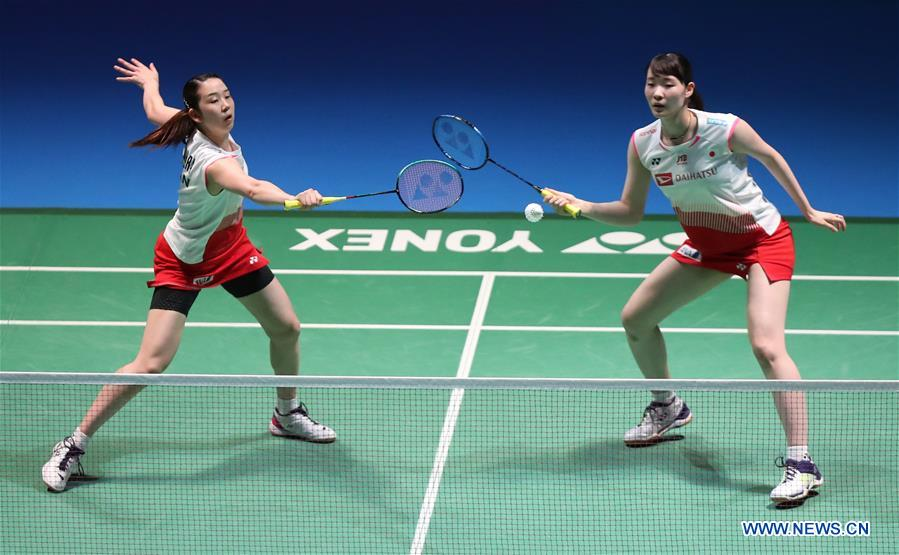 South Korea wins women's doubles at badminton's Japan Open