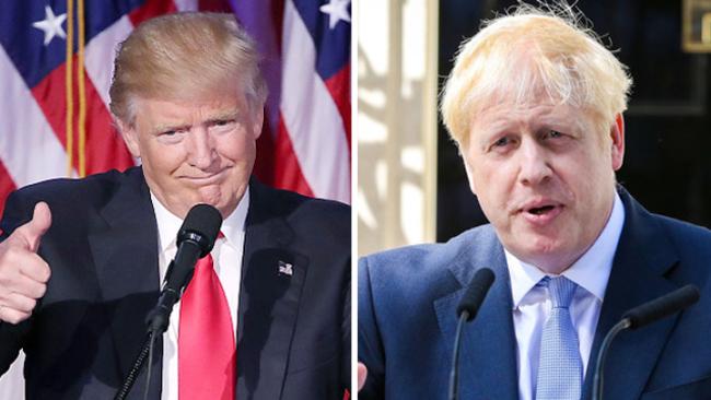 Trump predicts sharp rise in US-UK trade under Boris Johnson