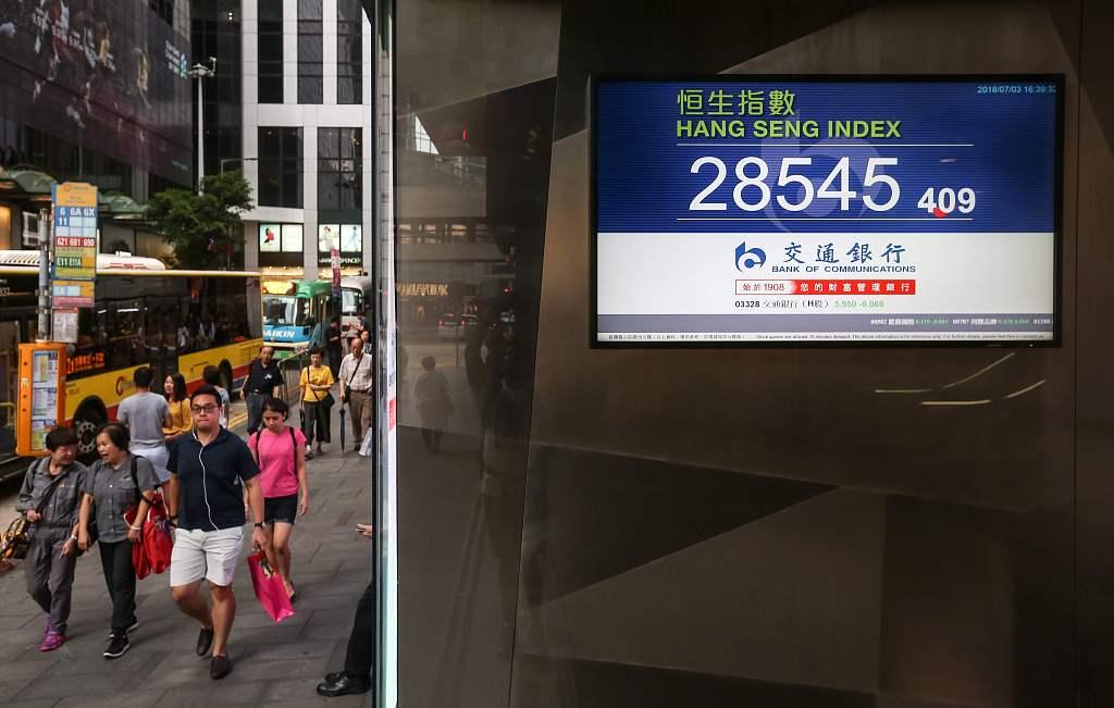 Hong Kong stocks close 1.03 pct lower