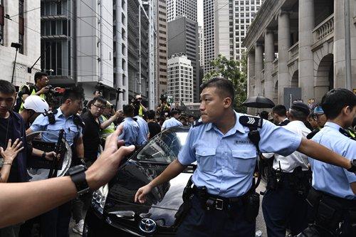 Hong Kong police disperse illegal rallies