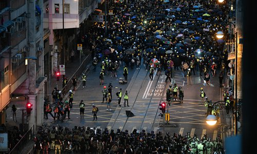 Traitors seek to separate Hong Kong and fuel street violence