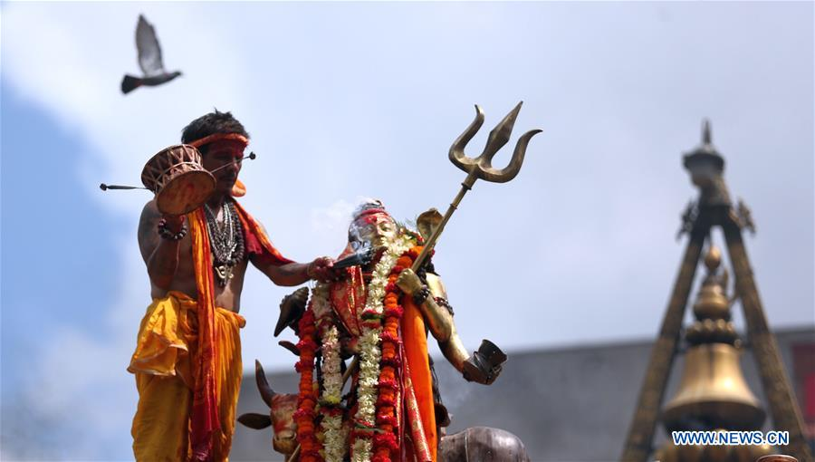 In pics: hindu holy month of Shrawan in Nepal