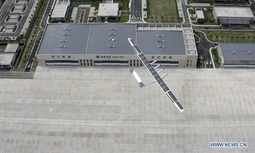 China-made solar-powered unmanned aircraft makes maiden flight