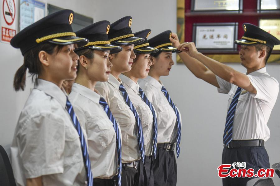 Training China's first female bullet train drivers