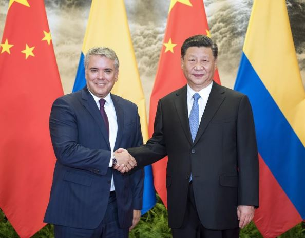 Chinese, Colombian presidents pledge to promote ties