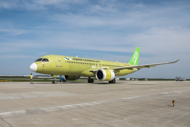 Newest C919 jet completes taxiing test in Shanghai