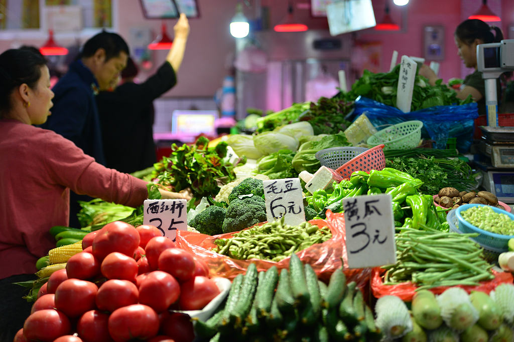 China Shouguang vegetable price index up 0.48 pct