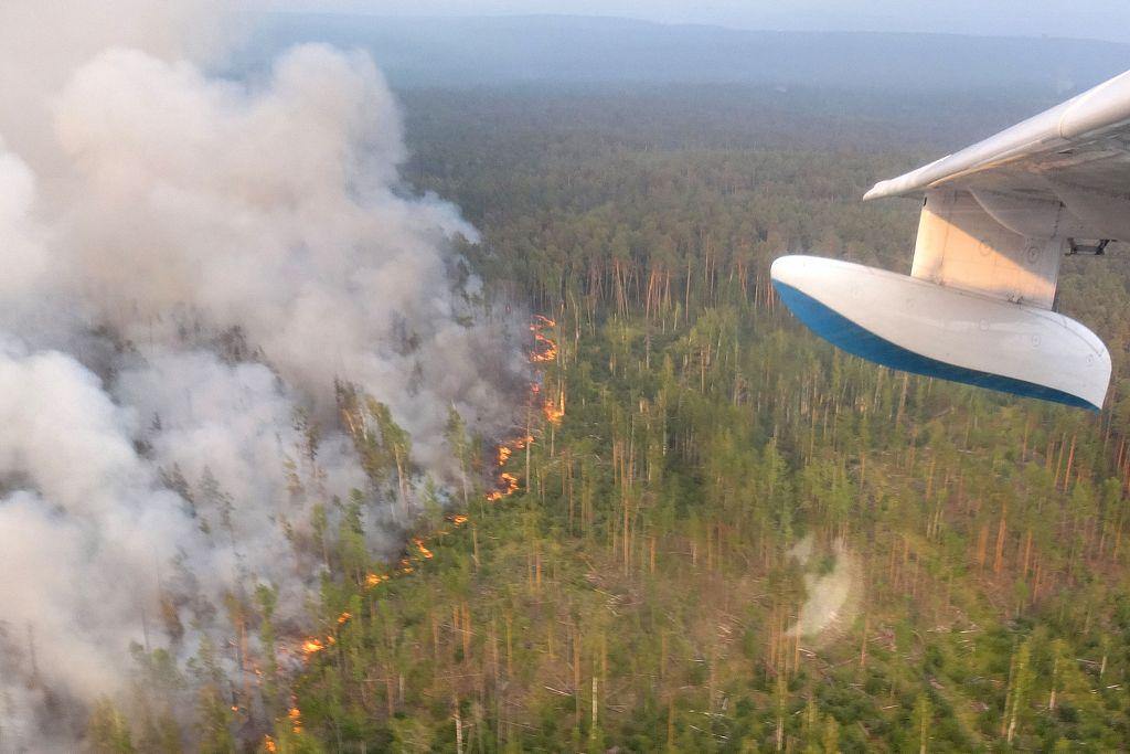 Forest fires spread in remote Siberia, Russian Far East