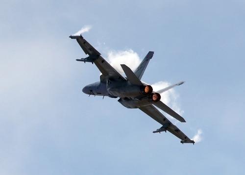 US Navy fighter jet crashes in national park