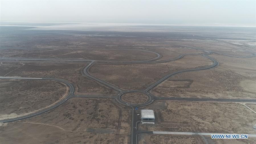 Vehicle testing ground put into use in Turpan