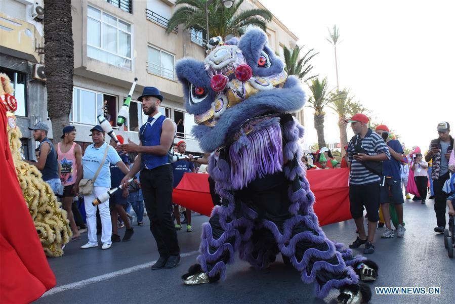 Opening parade of 2019 Jawhara Festival held in El Jadida, Morocco