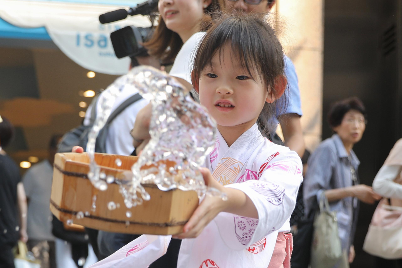 Uchimizu water sprinkling event in Tokyo, Japan