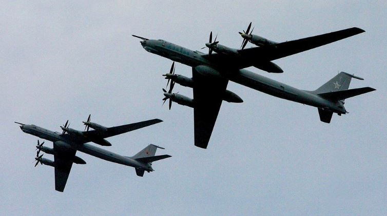 Russian anti-submarine aircraft carry out patrol mission over Pacific