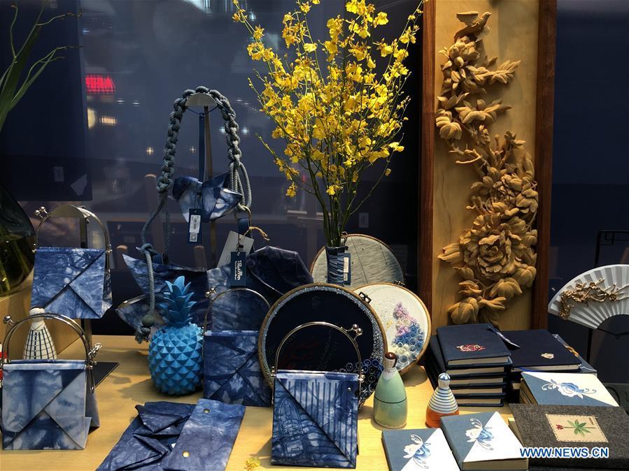 Handicrafts with ethnic minorities elements displayed at Bazaar in Beijing