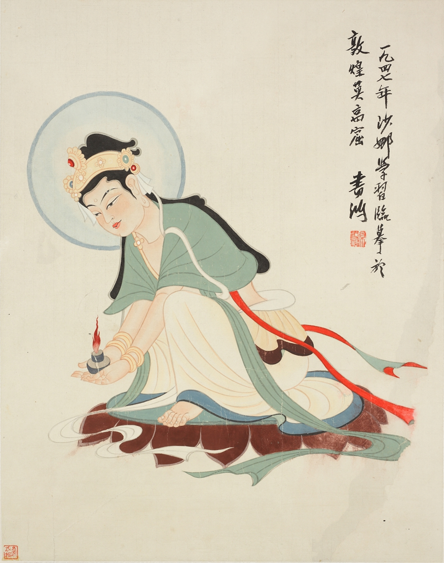 Painter's life is devoted to Dunhuang caves