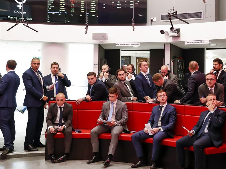 Open-outcry trading takes place at London Metal Exchange