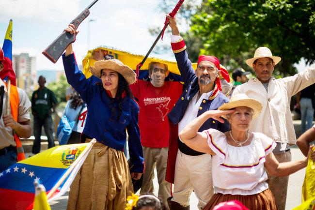 Venezuelans stage protest against US sanctions