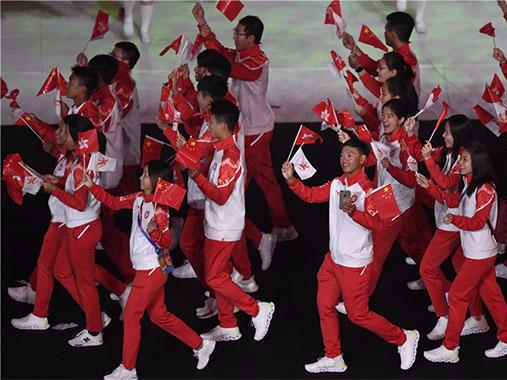 HK sports delegation gets warm welcome at China Youth Games