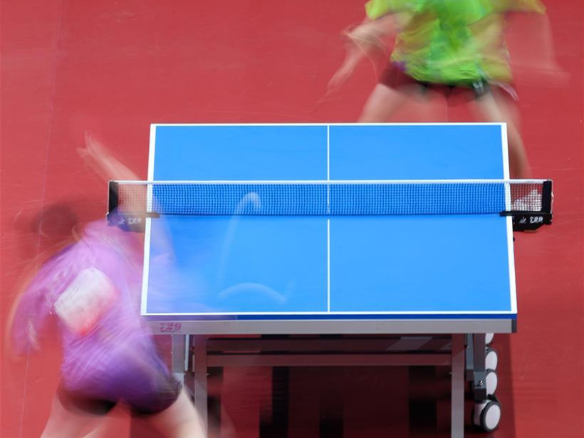 Highlights of women's team qualification of table tennis event at 2nd Youth Games of China