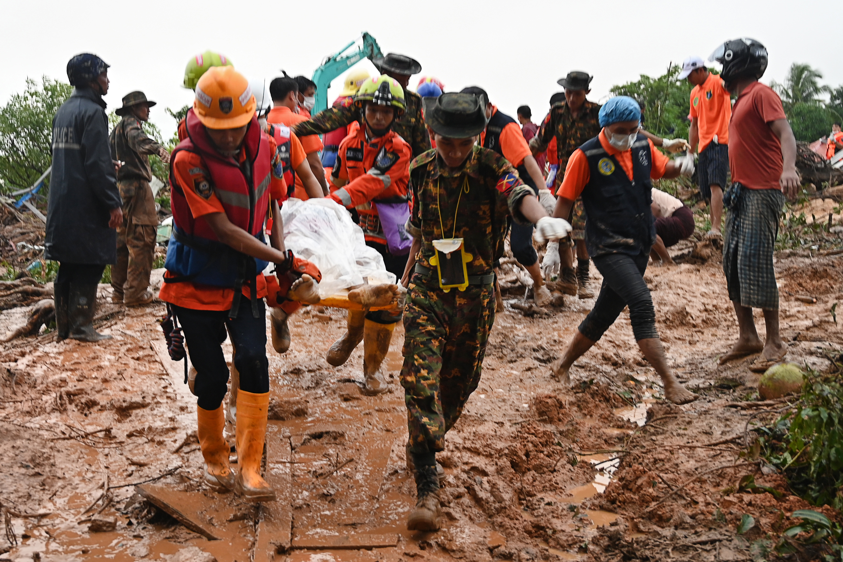 Myanmar landslide kills 41, many more feared missing