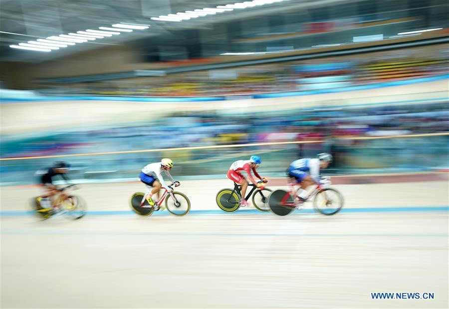 Highlights of cycling track men's omnium at 2nd Youth Games of China