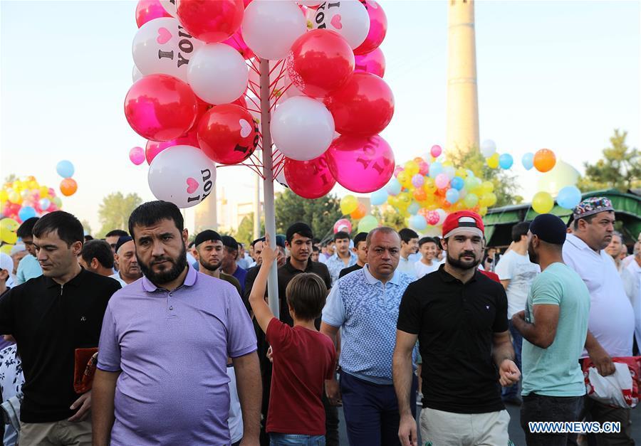 People attend Eid al-Adha festival in Tashkent, Uzbekistan