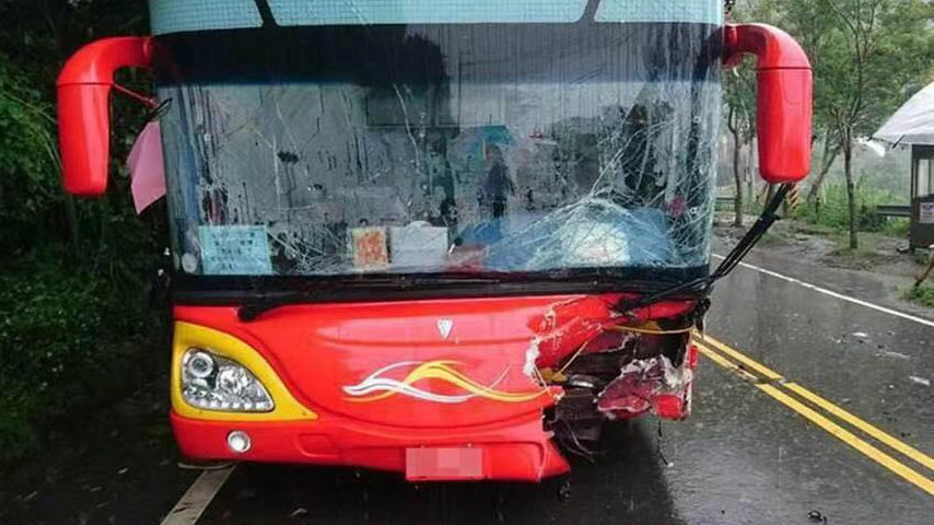 At least 11 injured in a bus accident in Taiwan, mainland tourists among the injured