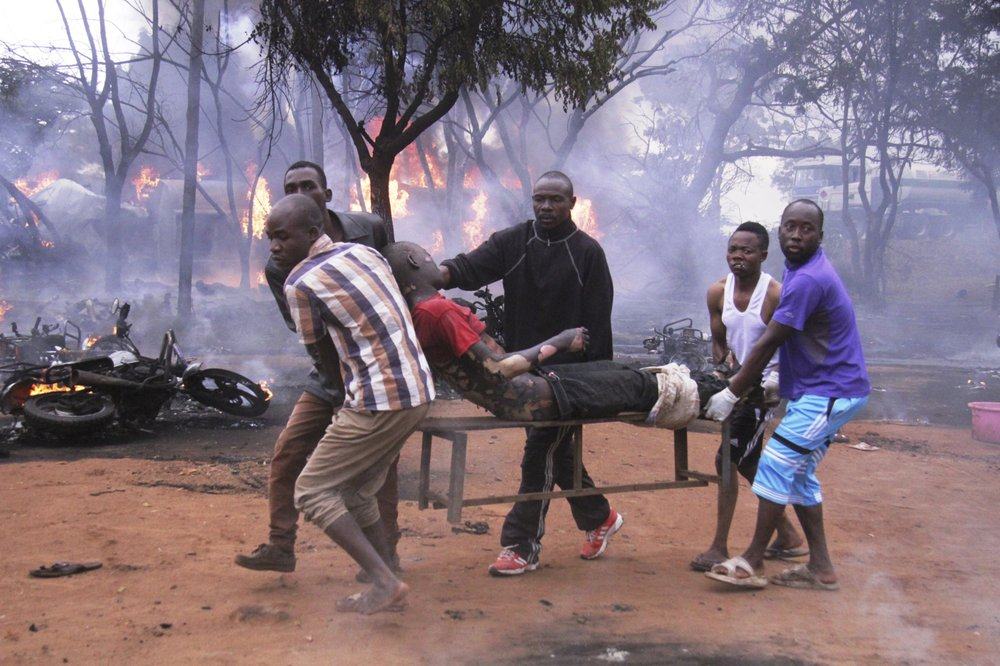 Tanzanian police say 62 killed when siphoned tanker explodes