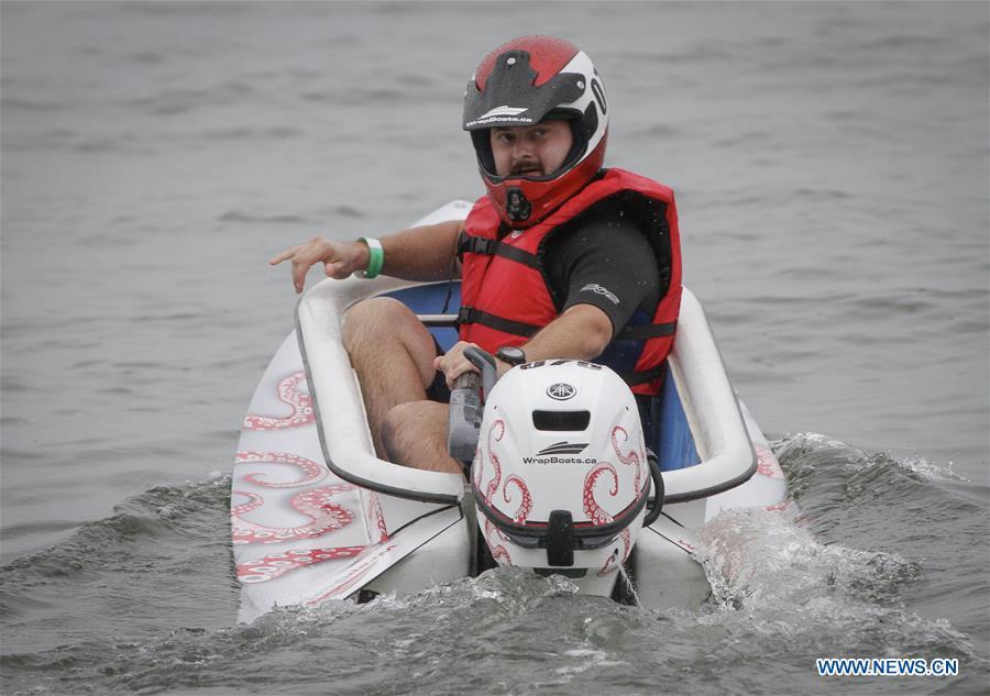 Bathtub Races held at Kitsilano Beach in Vancouver