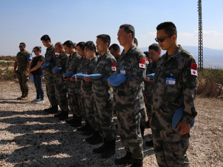 Peacekeepers memorialize fallen comrade