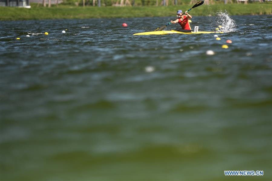 In pics: women's singles canoe 500m final at 2nd China Youth Games