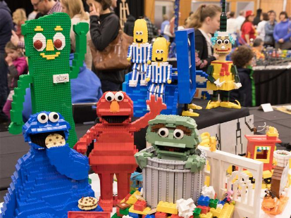 LEGO works displayed at Brick Expo in Canberra, Australia