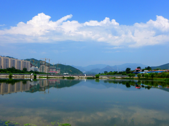 Summer scenery of Yongding River