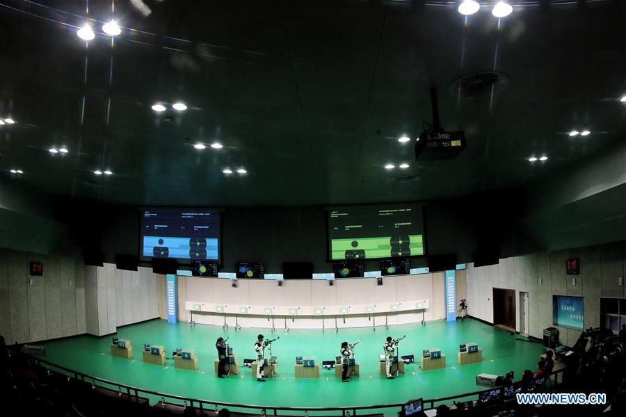 In pics: mixed team final of 10M air rifle at 2nd China Youth Games