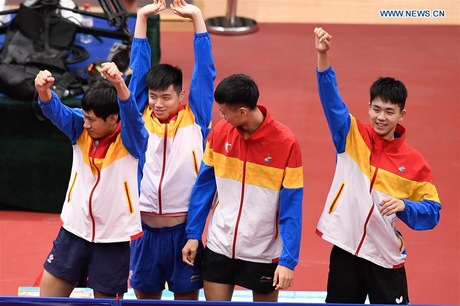 In pics: table tennis bronze medal team match at 2nd China Youth Games