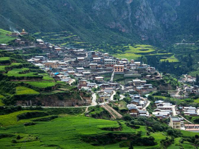 Zhagana, a paradise-like place in Gansu