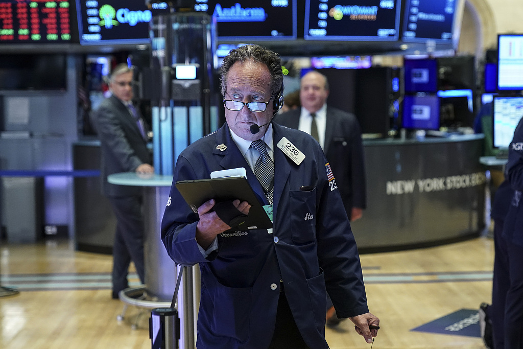 US stocks open lower amid recession fears