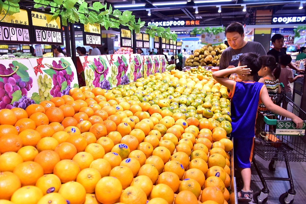 China's retail sales up 8.3 pct in Jan-July