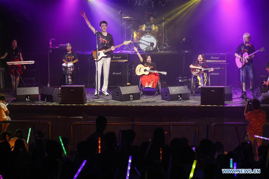 Chinese band with members suffering rare diseases releases 1st album in Beijing