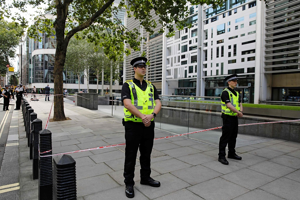 Man stabbed near government offices in central London