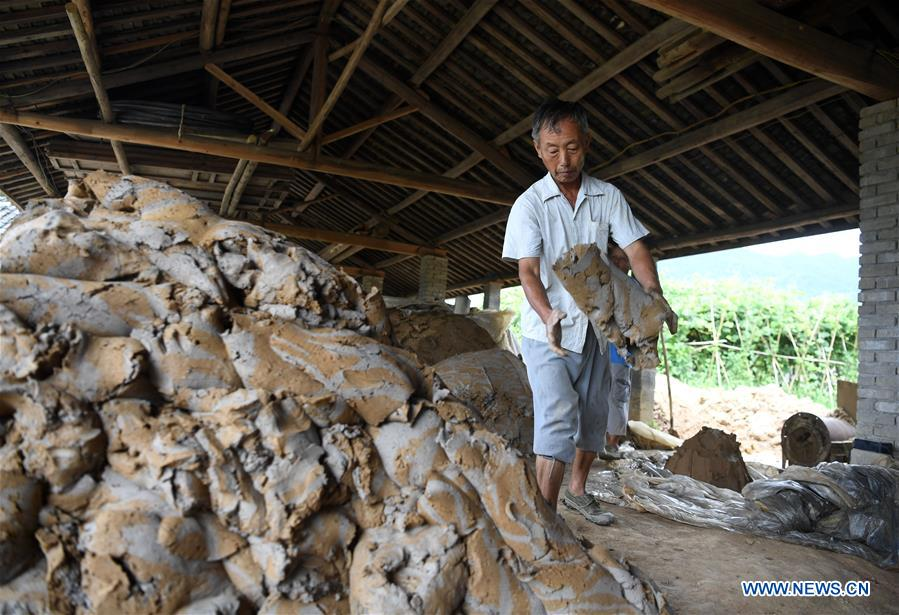 Provincial intangible cultural heritage in China's Anhui: brick making technique