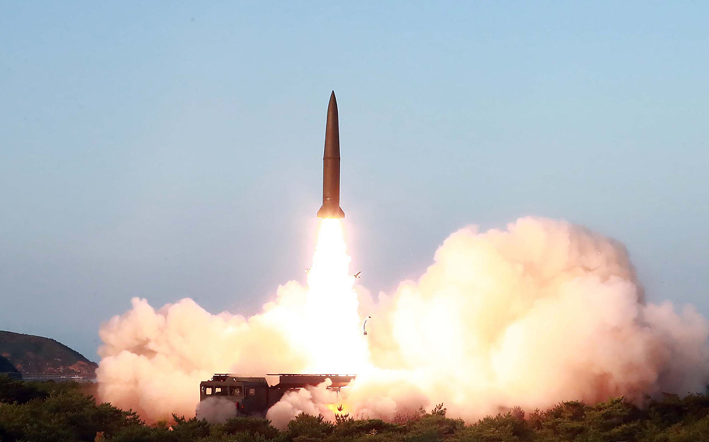 Top DPRK leader guides test-fire of new weapon again: KCNA