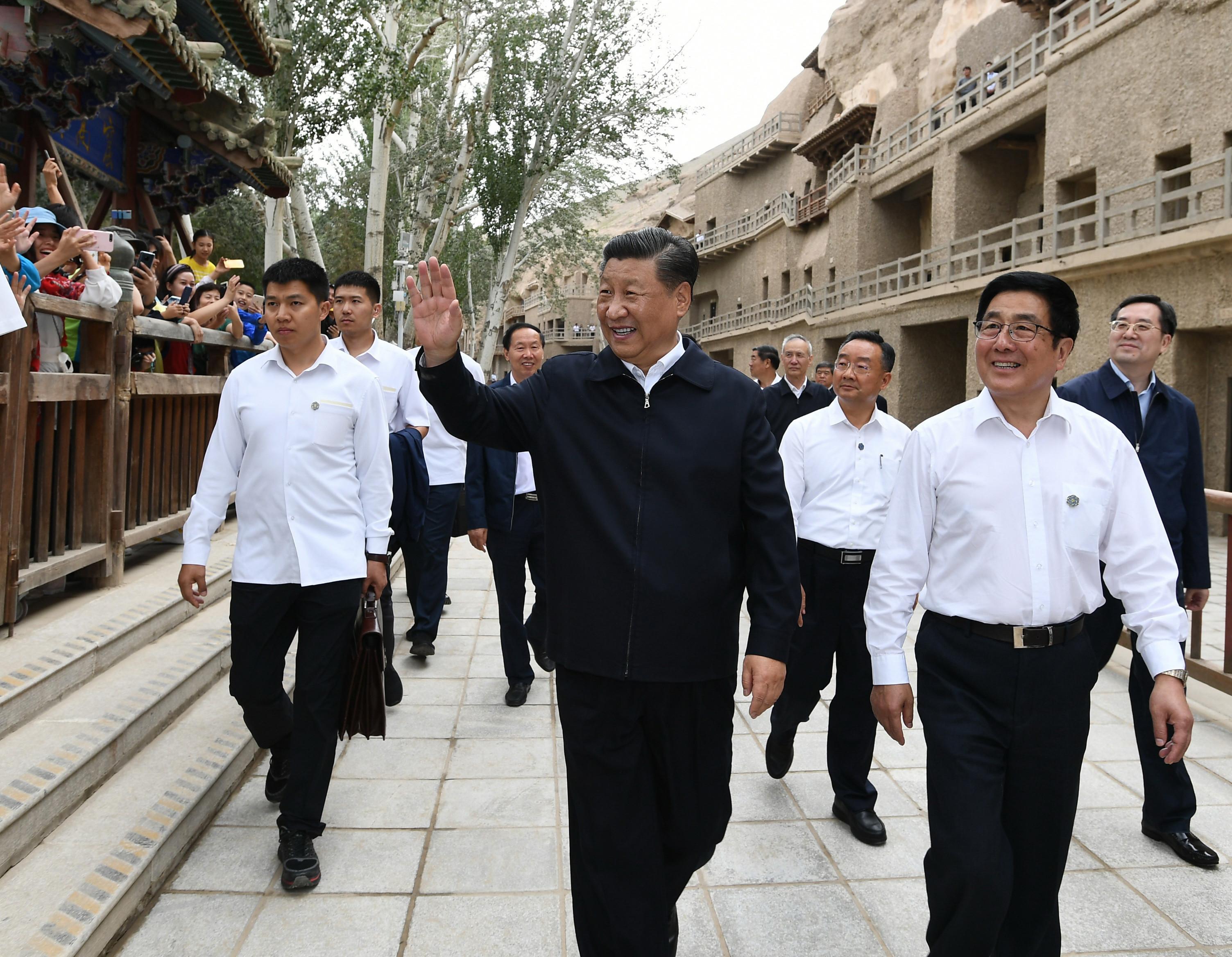 President Xi inspects Gansu Province