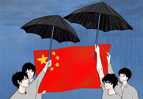 Overseas Chinese rally against Hong Kong secessionists and violence